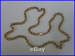 Stunning 9ct Gold 20 Round Belcher Chain