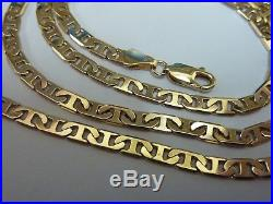 Stunning 9ct Gold 21 Anchor Chain