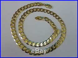 Stunning 9ct Gold 22.5 Curb Chain Amazing condition