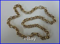 Stunning 9ct Gold 22 Patterned Belcher Chain