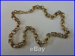 Stunning 9ct Gold 22 Patterned Belcher Chain Normal Price £1549 Ours £1499