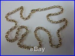 Stunning 9ct Gold 22 Round Belcher Chain