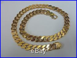Stunning 9ct Gold 24 Curb Chain Normal Price £3599 Our Price £3279