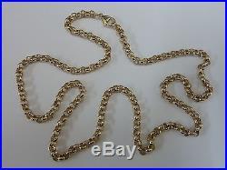 Stunning 9ct Gold 24 Round Belcher Chain
