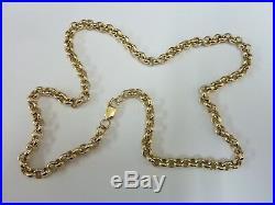 Stunning 9ct Gold 24 Round Belcher Chain Fully hallmarked