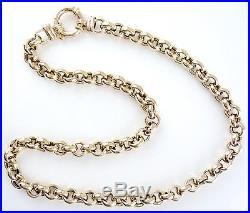 Stunning 9ct Gold Belcher Chain (50.1g) 18 Necklace 9k 375