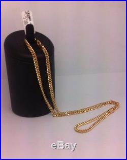 Stunning 9ct Gold Curb Chain 22 Inch -19.5g UK Hallmark RRP 875