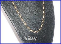 Stunning 9ct Gold Ladies 21` Diamond Belcher Link Necklace Chain 375 Jewelery