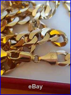 Stunning 9ct Gold Women / Mens Heavy Curb Chain 31g