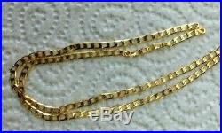 Stunning 9ct Yellow Gold Curb Link Chain. Full 9ct gold hallmark