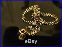 Stunning 9ct Yellow Gold Curb Link Chain. Full 9ct gold hallmark