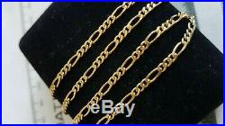 Stunning 9ct Yellow Gold Solid Figaro Link Chain, Full 9ct gold hallmark