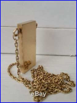 Stunning 9ct gold necklace, chain & heavy ingot pendent