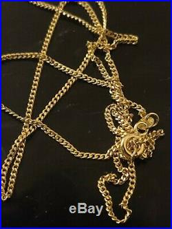 Stunning 9ct yellow gold solid Curb linked chain. Full 9ct gold hallmark
