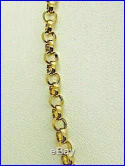 Stunning 9ct yellow gold solid belcher chain, full 9ct gold hallmarked