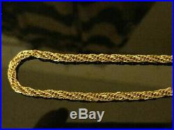 Stunning 9ct yellow gold solid diamond cut rope chain. Full 9ct gold hallmarks