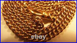Stunning Antique Very Fine Rare Solid 9ct 375 Gold Watch Chain/Double Bracelet