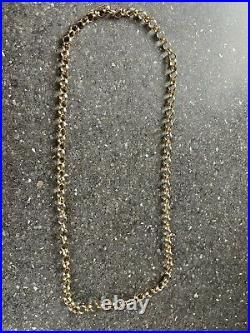 Stunning Birmingham hm Heavy Solid 9ct Gold Round 5mm Link Belcher Chain 18in