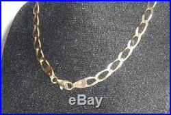 Stunning Gents Mens Ladies 9ct Gold 24 Necklace Curb Chain 17.2g 4mm Jewellery