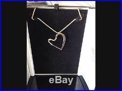 Stunning Hand Made Bespoke 9ct Gold Heart Pendant & Chain Value £2000+