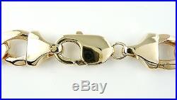 Stunning Heavy 9ct Gold Curb Chain (21 67g) Hallmarked Necklace 9k 375