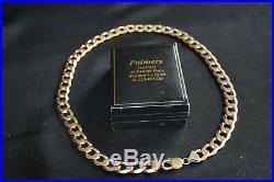 Stunning Heavy Fashion (85 Gram) Hallmarked 9ct Gold Curb Chain (22 Inch)