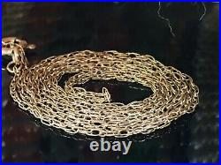 Stunning Long 9ct 375 Gold 22 / 22 Inches Chain In Excellent Condition Hallmark