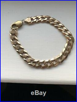 Stunning Mens High Quality Solid Heavy 9CT Gold Chunky Bracelet Nice