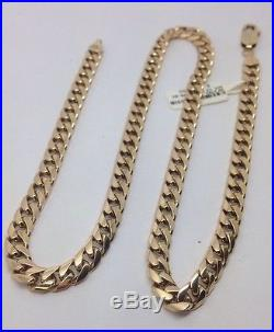 Stunning Solid 9ct Gold Curb Chain- 20inch HEAVY 45.6g Uk Hallmark RRP £2050