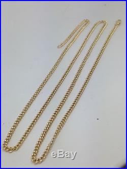 Stunning Solid -9ct Gold Curb Chain28inch 16.9g UK Hallmark RRP £760