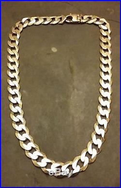 Stunning Super Heavyweight 9ct Gold Chain 23.5 Inches 166 Grams