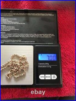 Stunning Victorian hm Solid 9ct Gold Round Link Belcher Guard Chain 18 In