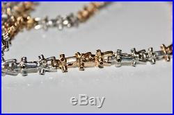 Stunning mens heavy 9ct gold lego chain necklace hallmarked not scrap