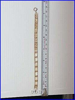 Stunning solid 9ct gold ladies bracelet 7 length 4.09 grams