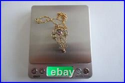 Suffragette'belle Epoque' 9ct Yellow Gold Pendant 9ct Gold Chain C1890's Box