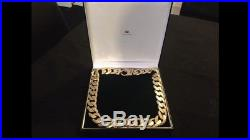 Super Heavy Weight 9ct Gold Chain Diamond Cut 24 Inch Long