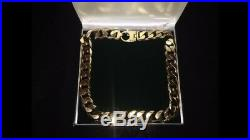 Super Heavy Weight 9ct Gold Chain Diamond Cut 24 Inch Long
