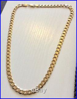 Super Quality Gents Very Heavy Solid 9CT Gold Open Curb Necklace Chain 20 inch
