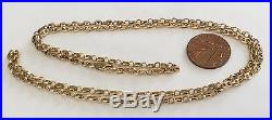 Super Quality Very Unusual Link Vintage Solid 9ct Gold Long 27 Inch Neck Chain