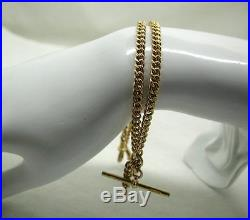 Superb 1930 Heavy 9ct Gold Double Albert Watch Chain Simply The Best Quality