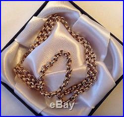 Superb 9ct Gold Belcher Chain Necklace. 20 1/2 inches. Great Cond. 16.62 grams