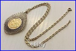 Superb Edwardian 1905 Full 22 Carat Sovereign Pendant on Lovely 9ct Gold Chain