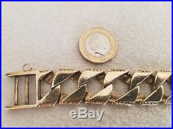 Superb Gents Chunky Heavy 9CT Gold Bracelet Vintage & Heavy. 80g