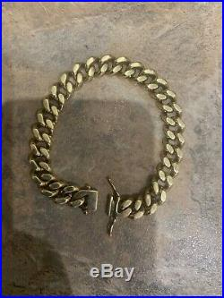 Superb Gents Extremely Heavy Chunky 9CT Gold Curb Bracelet