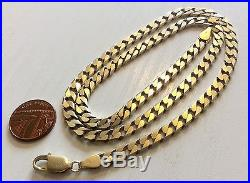 Superb Gents Full Hallmarked Very Heavy Solid 9ct Gold Neck Chain 21 Inch