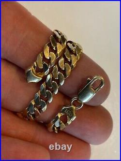 Superb Heavy Curb Link Solid 9ct Gold Bracelet 15.6 Grammes