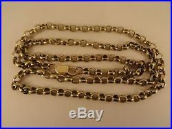 Superb LONG 9ct Gold 27 BELCHER Chain Necklace Hm 41gr 5mm link RRP£2050 cx263