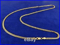 Superb Ladies Mens 18 Solid 9ct Yellow Gold CURB Chain 8.5gr Hm 2mm Ex Con 970n