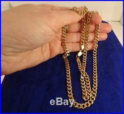 Superb Long HEAVY 24 9ct Gold CURB CHAIN 34gr Hm 5mm RRP £2000 Deep Colour cx18