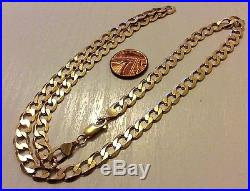 Superb Men's Full Hallmarked Heavy Solid 9ct Gold Neck Chain 22 Inch